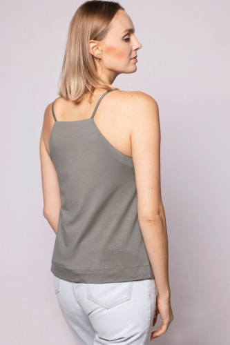 Top Miss Simple Grey Green