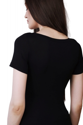 T-shirt Miss Invisible Black