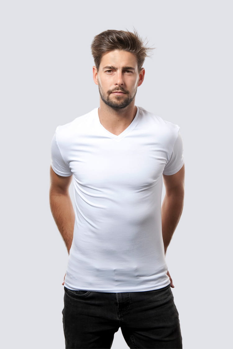 T-shirt Mr Basic White