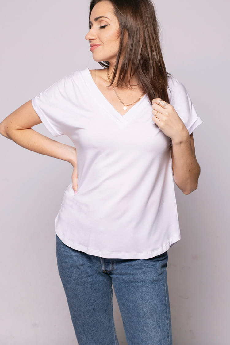 T-shirt Miss Loose White