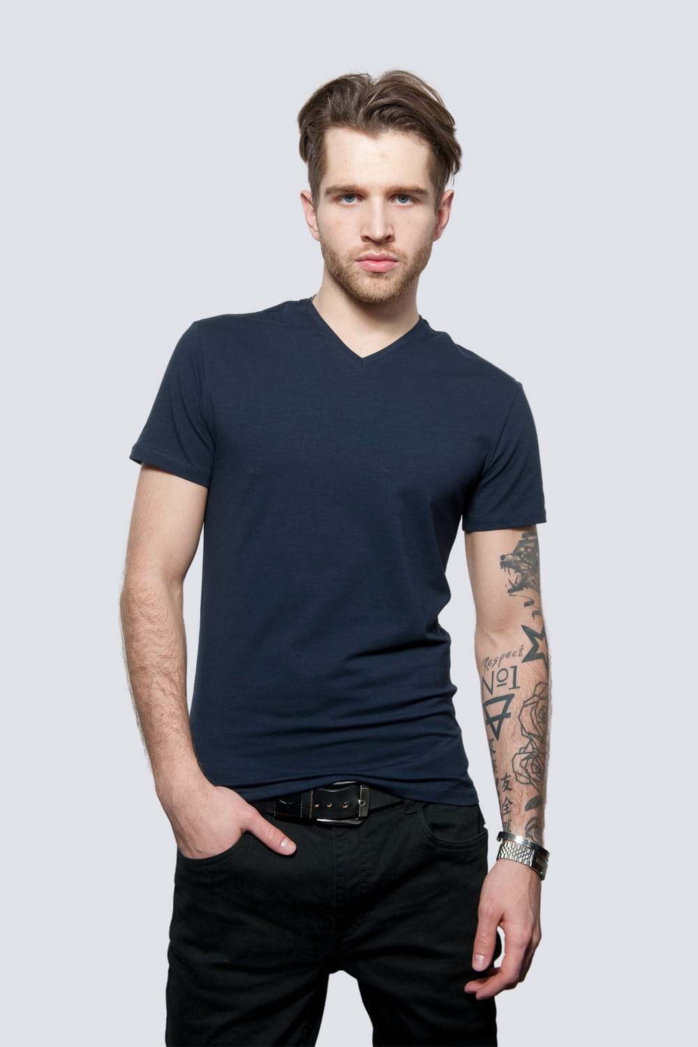 T-shirt Mr Basic Navy